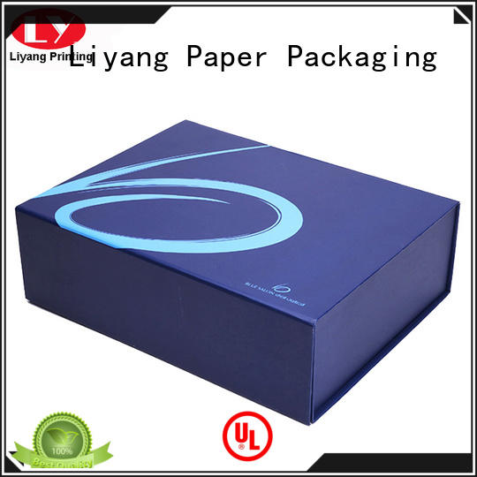 Liyang Paper Packaging magnetic clothing boxes custom logo for gift
