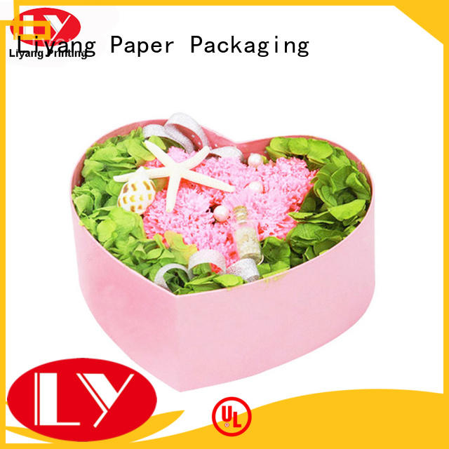 heart paper flower box distinctive designs for cosmetics Liyang Paper Packaging