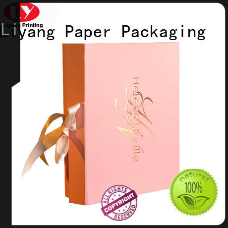 popular pillow box with ribbon handle factory price for lipstick Liyang Paper Packaging