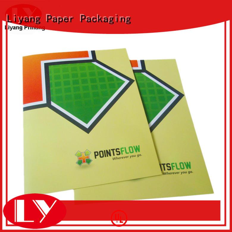 printing ribbon presentation folders printing pockets Liyang Paper Packaging company