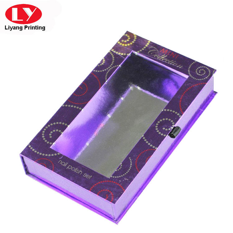 Liyang Paper Packaging popular pillow box with ribbon handle tab for lipstick-1
