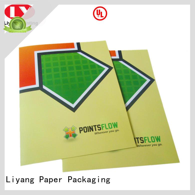 Liyang Paper Packaging OEM A4 paper folder printing for packing