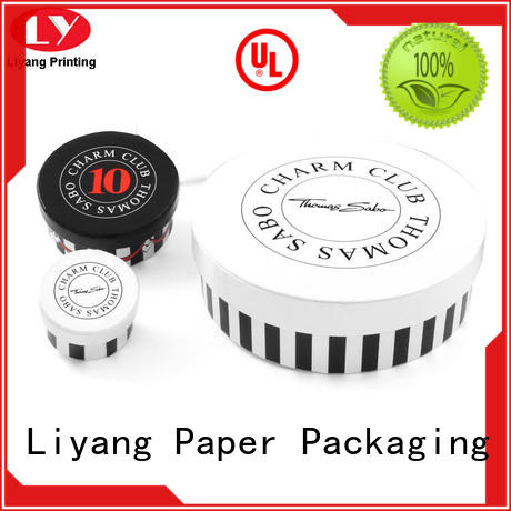 Liyang Paper Packaging Brand cardboard round paper box bracelet supplier