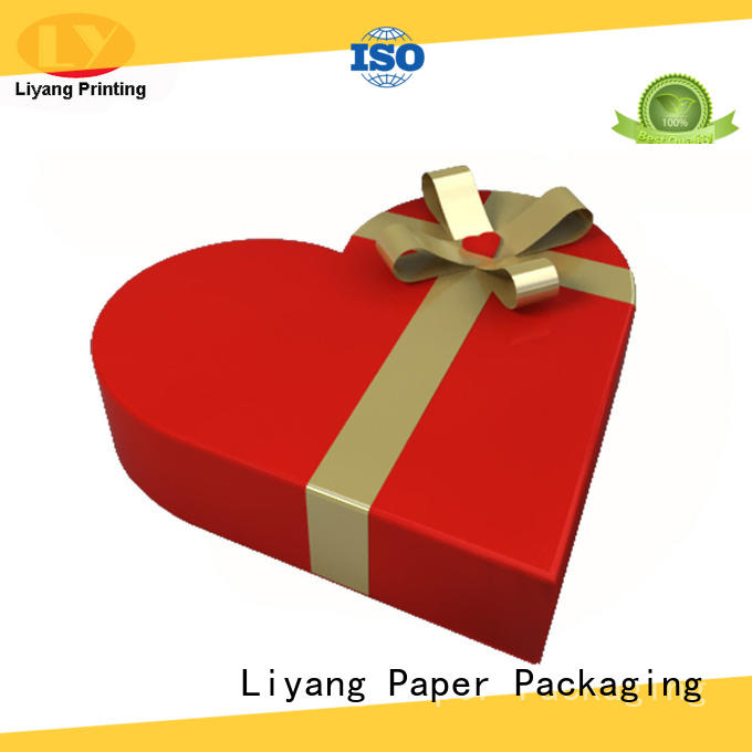 Liyang Paper Packaging Brand quality heart kraft special box manufacture
