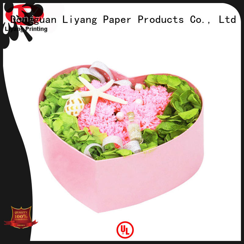 Liyang Paper Packaging custom paper flower box square shape for cosmetics