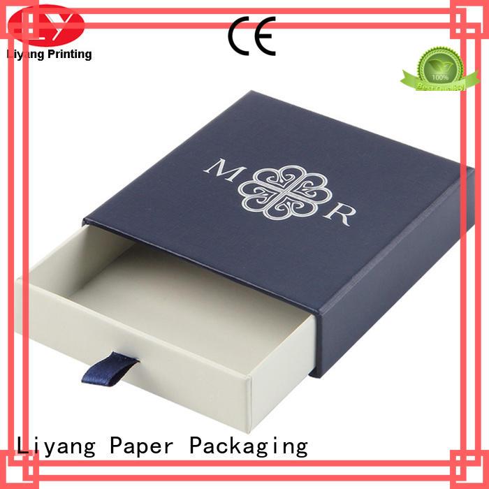 Custom ribbon cardboard jewelry boxes packaging Liyang Paper Packaging