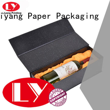luxury wine gift box cardboard foil stamping for wholesale for shop