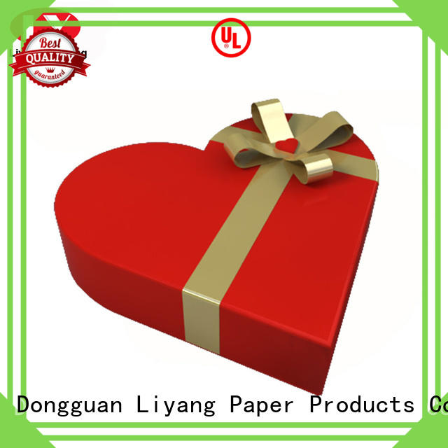 Liyang Paper Packaging ribbon bow special gift box fast delivery for chocolate