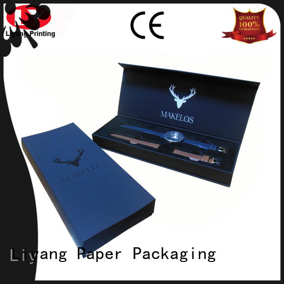 leather custom jewelry packaging cardboard for necklace Liyang Paper Packaging
