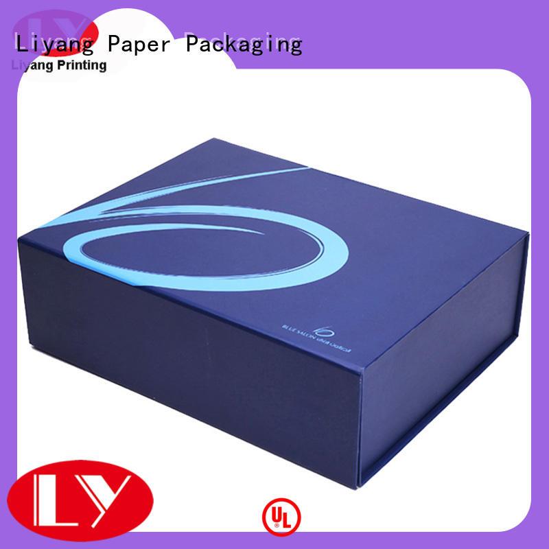 clothing paper box flat baby clothing gift boxes printed Liyang Paper Packaging Brand