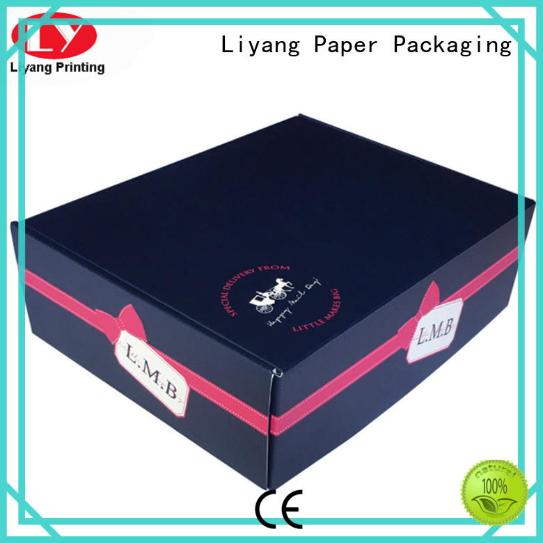 square empty gift boxes corrugated Liyang Paper Packaging company