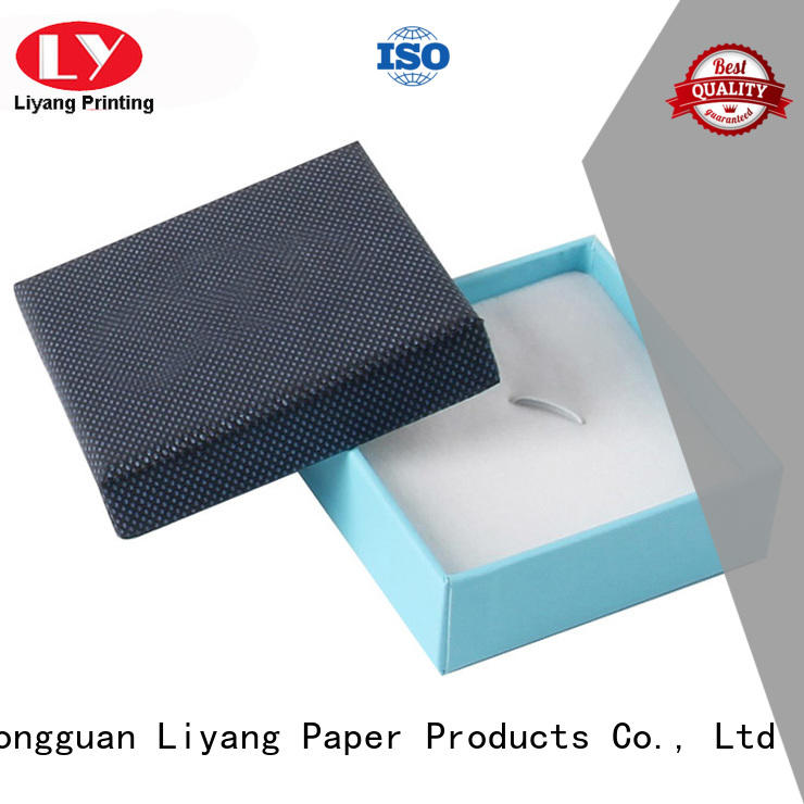 hinge custom paper jewelry boxes touch for ring Liyang Paper Packaging