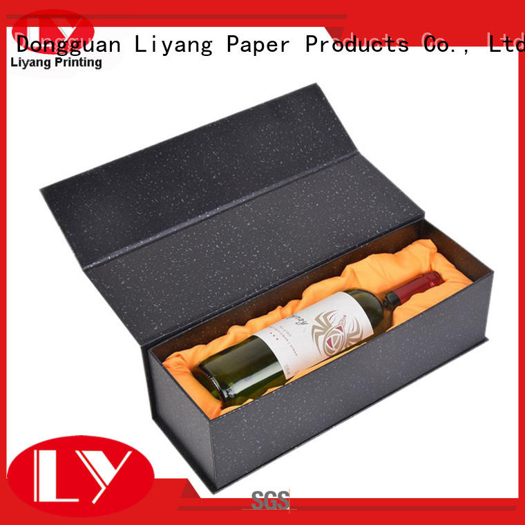 logo printed wine gift box cardboard factory supply free sample