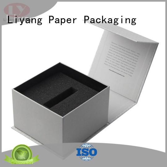 cosmetic gift packaging polish black square Warranty Liyang Paper Packaging
