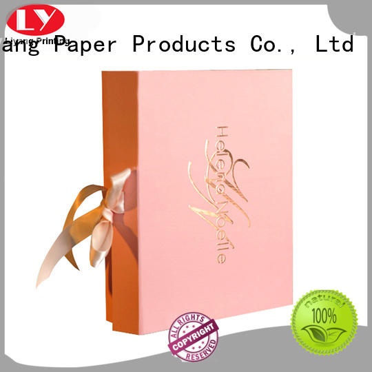 pink cosmetic gift box board factory price for packaging