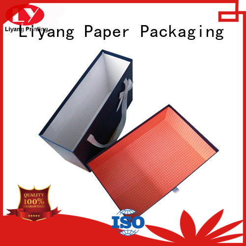 clothing paper box double folding clothing gift boxes large Liyang Paper Packaging Brand