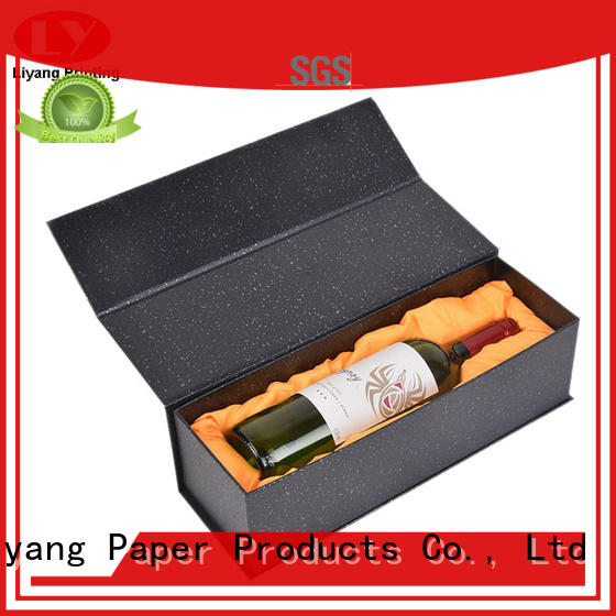 Liyang Paper Packaging logo printed wine packing boxes UV coating for spirit