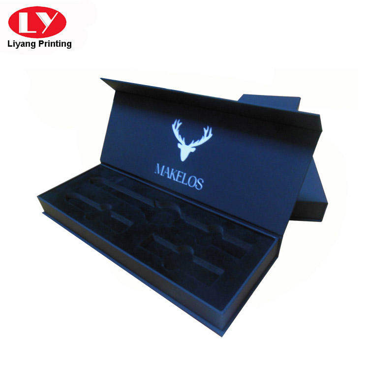 Black Soft Touch Paper Luxury Watch Packaging Gift Box-3