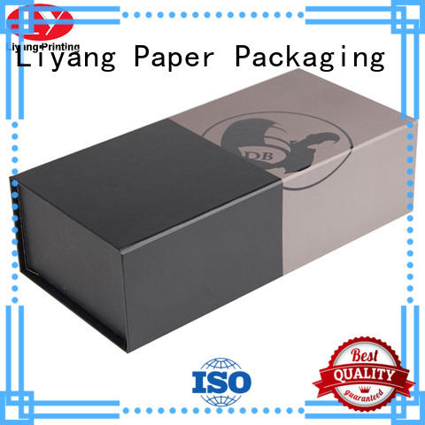Liyang Paper Packaging foil stamping wine gift box cardboard for wholesale for spirit