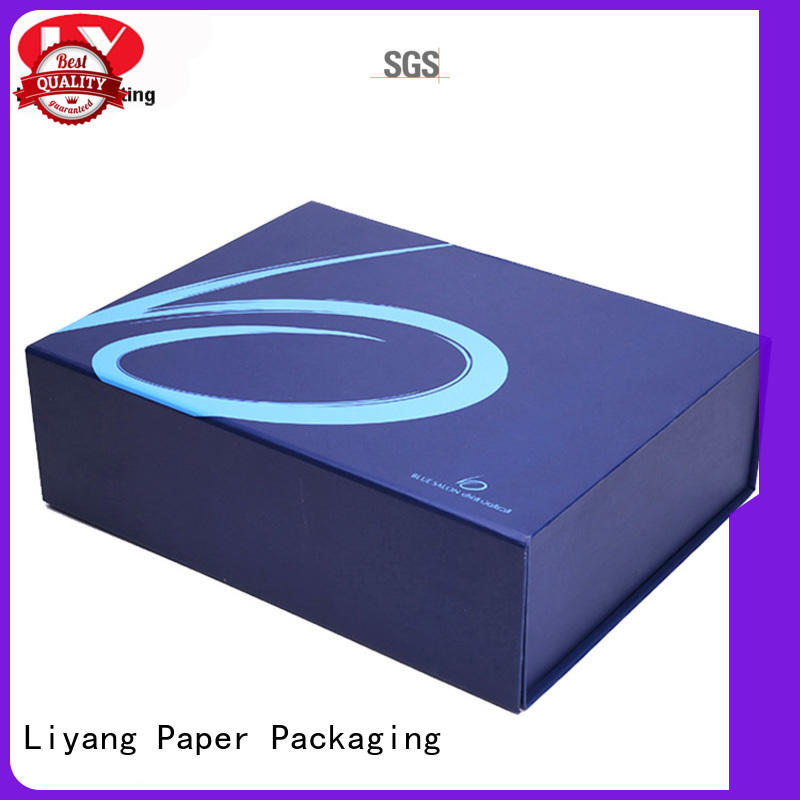 Wholesale blue clothing gift boxes Liyang Paper Packaging Brand