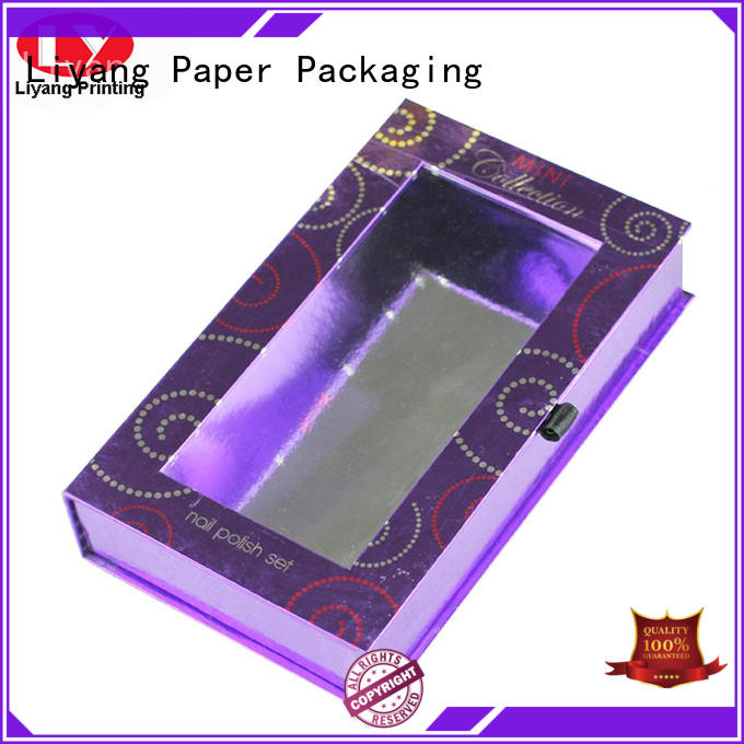 closure custom cosmetic boxes handle for lipstick Liyang Paper Packaging