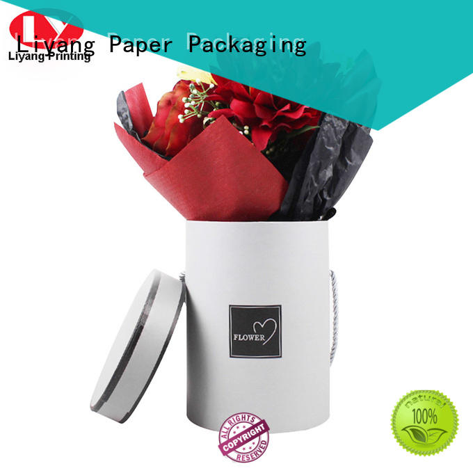 cardboard flower bouquet boxes square shape for delivery Liyang Paper Packaging