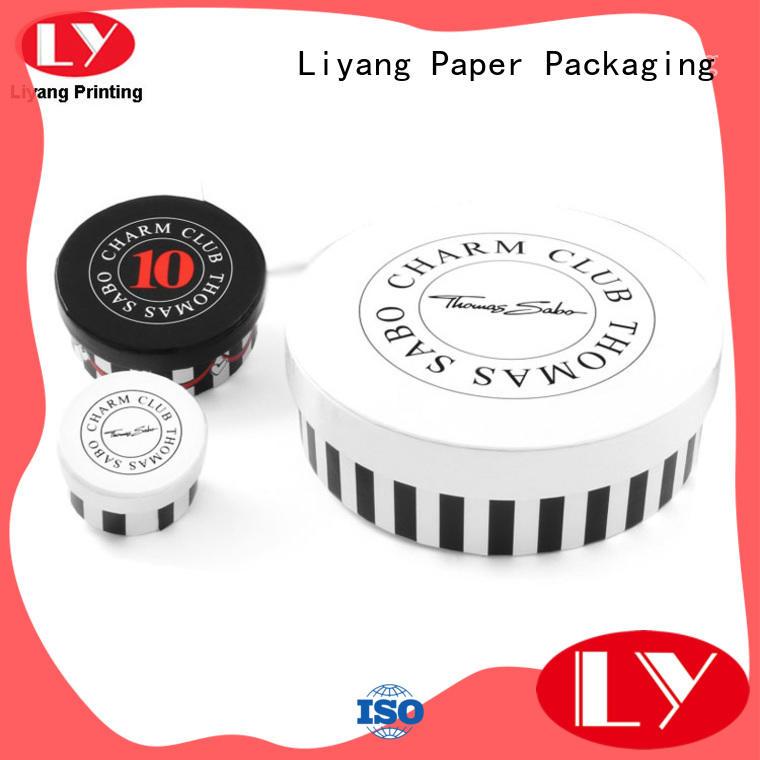 Liyang Paper Packaging ODM round cardboard boxes on-sale for bracelet