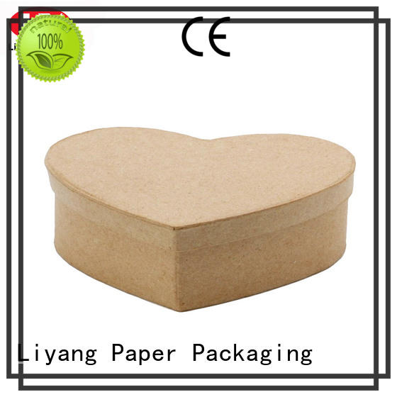 Liyang Paper Packaging brown heart shaped gift box at discount for christmas