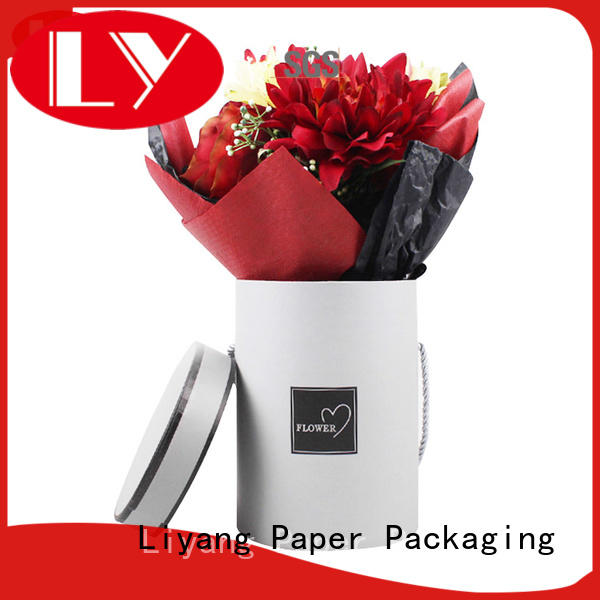 customized made flower gift box pink square shape for delivery