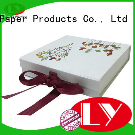 clothing paper box size blue navy Liyang Paper Packaging Brand clothing gift boxes