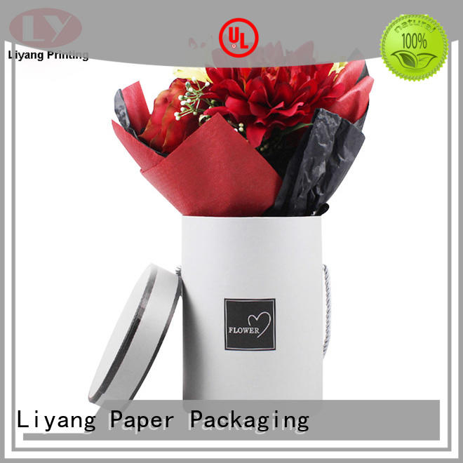 customized made paper flower box square shape for gift