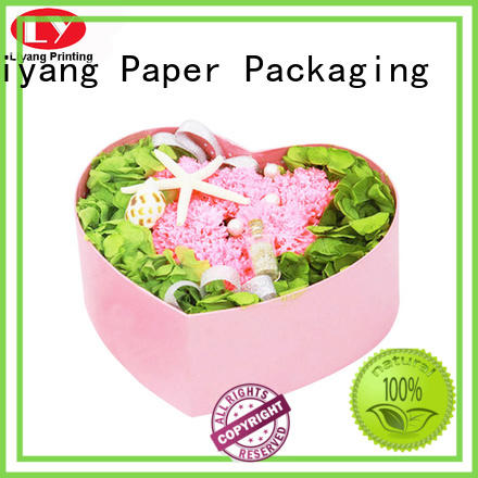 Liyang Paper Packaging display paper flower box square shape for rose