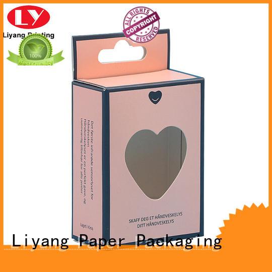 Liyang Paper Packaging clear window makeup packaging boxes bulk production for nail polish