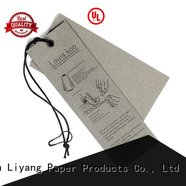 Liyang Paper Packaging custom design present tag catalog manufacturing