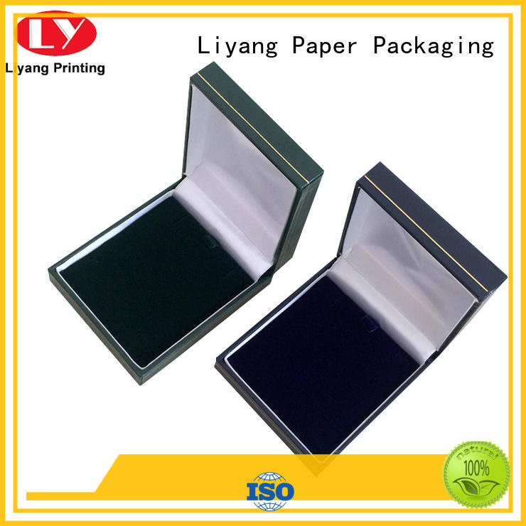 Liyang Paper Packaging hinge paper jewelry box ODM for necklace