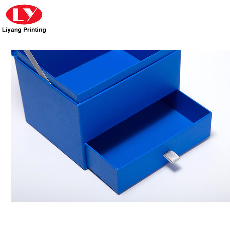 Luxury high quality paper cardboard gift storage box with drawer-3