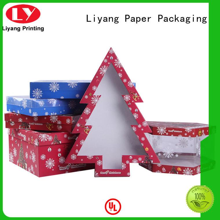 Liyang Paper Packaging shaped heart shaped gift box pvc for christmas