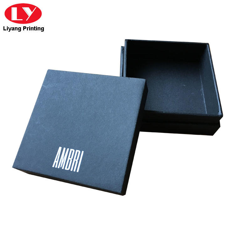 black cardboard jewelry boxes wholesale ODM for small bracelet Liyang Paper Packaging-1