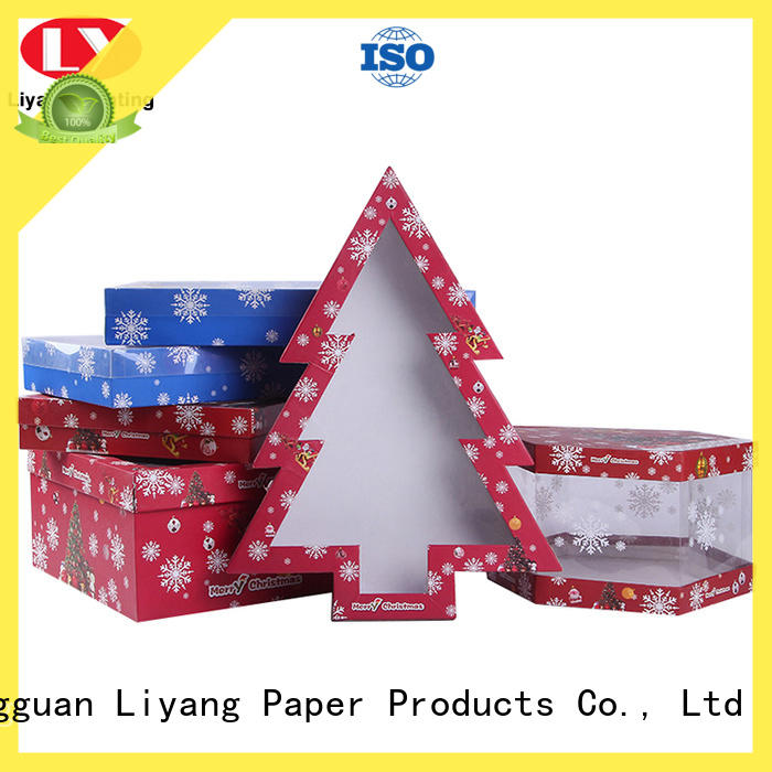 Wholesale Custom Print Christmas Packaging Gift Paper Box With PVC Window