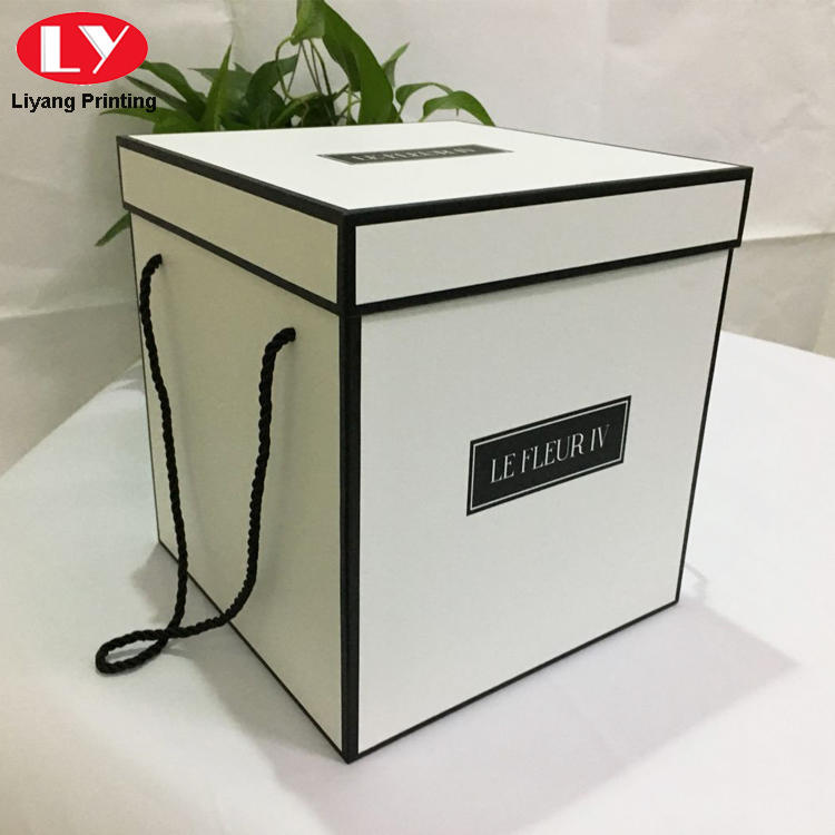 Custom Printed Square White Flower Boxes Wholesale