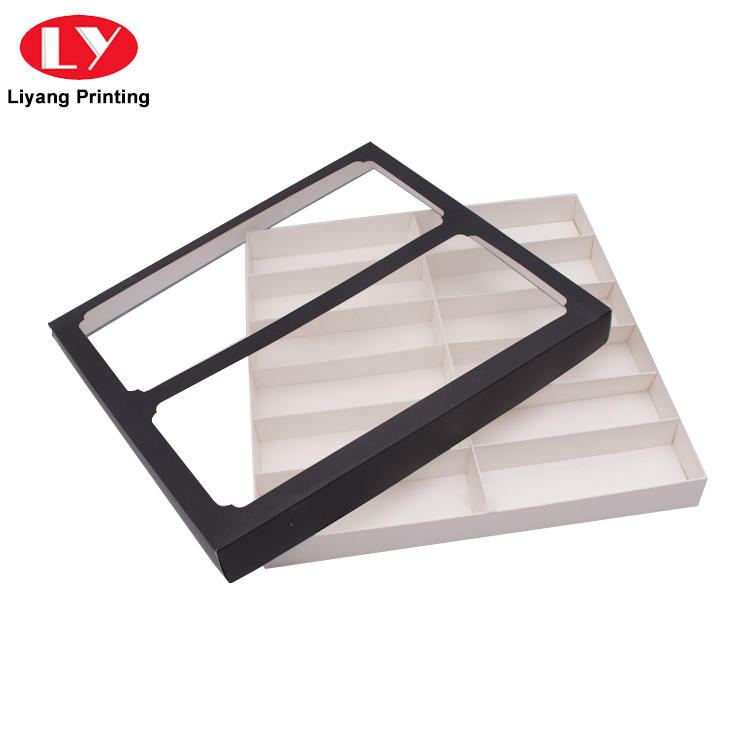 Factory price color printed folding paper packaging box with PVC window
