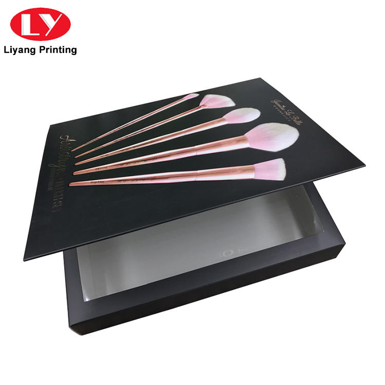 Custom luxury cosmetic cardboard makeup brush packaging box