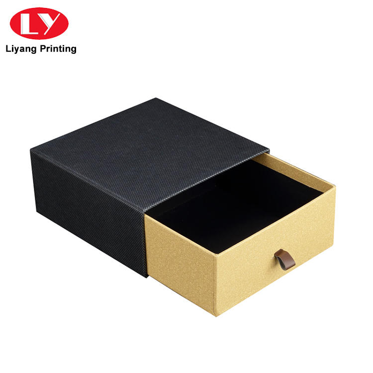 Manufacturer rigid belt packaging box drawer slide gift box