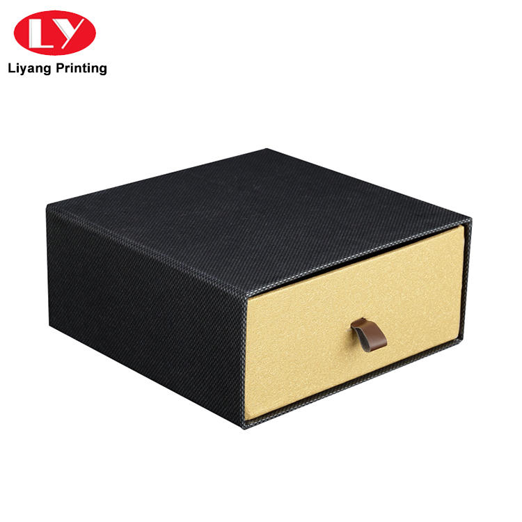Manufacturer rigid belt packaging box drawer slide gift box