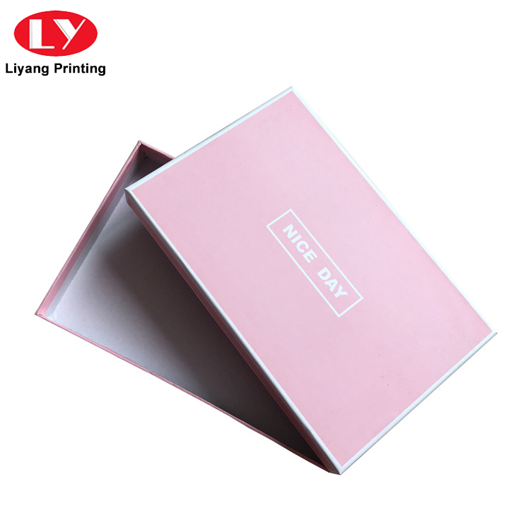 custom logo rectangle luxury rigid paper scarf packaging gift box with lid-5