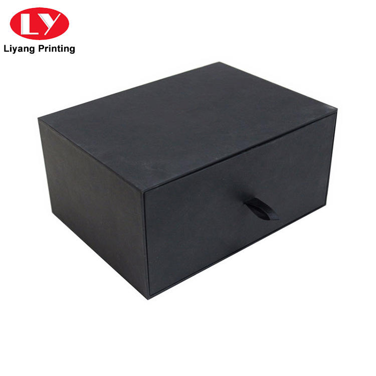 Pull Out Black Cardboard Paper Drawer Gift Packaging Paper Box