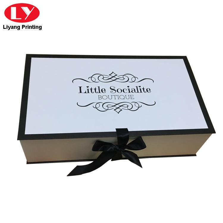 Luxury Large Wedding Dress Gift Box White with Ribbon