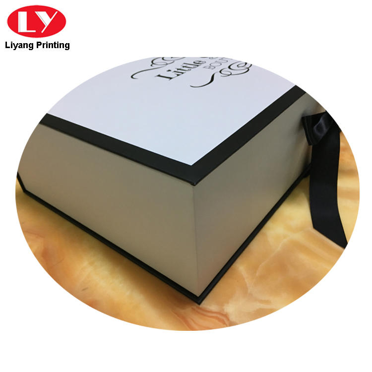 double clothing packaging box custom logo for christmas Liyang Paper Packaging