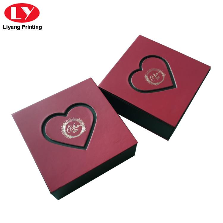 sanitary food packaging box red free sample for display-4