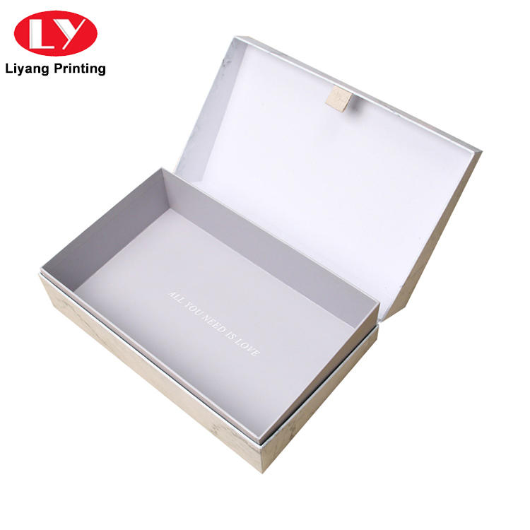 black cosmetic gift box ivory high quality for makeup